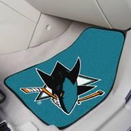 San Jose Sharks 2-Piece Carpet Car Mats