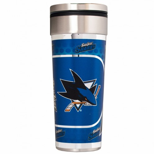 San Jose Sharks 22 oz. Hi Def Travel Tumbler
