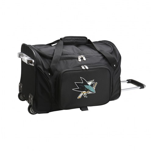 "San Jose Sharks 22"" Rolling Duffle Bag"