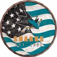 """San Jose Sharks 24"""" Flag Barrel Top"""