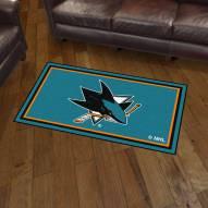 San Jose Sharks 3' x 5' Area Rug