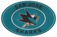 "San Jose Sharks 46"" Heritage Logo Oval Sign"