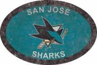 "San Jose Sharks 46"" Team Color Oval Sign"