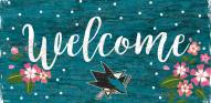 "San Jose Sharks 6"" x 12"" Floral Welcome Sign"