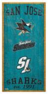 """San Jose Sharks 6"""" x 12"""" Heritage Sign"""