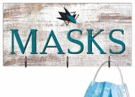 "San Jose Sharks 6"" x 12"" Mask Holder"