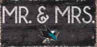 "San Jose Sharks 6"" x 12"" Mr. & Mrs. Sign"