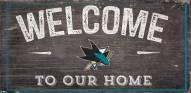 "San Jose Sharks 6"" x 12"" Welcome Sign"