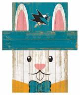 "San Jose Sharks 6"" x 5"" Easter Bunny Head"