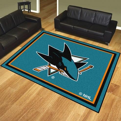 San Jose Sharks 8' x 10' Area Rug