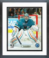 San Jose Sharks Alex Stalock Action Framed Photo