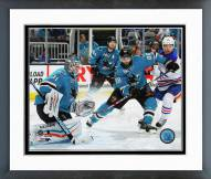 San Jose Sharks Antti Niemi Action Framed Photo