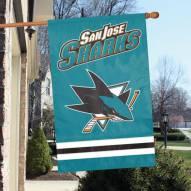 San Jose Sharks Applique Banner Flag