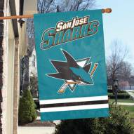 San Jose Sharks Applique Banner Flag