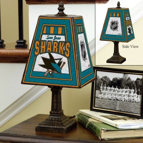 San Jose Sharks Art Glass Table Lamp