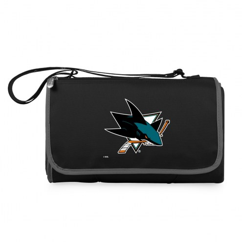 San Jose Sharks Black Blanket Tote