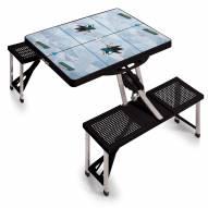 San Jose Sharks Black Sports Folding Picnic Table