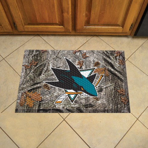 San Jose Sharks Camo Scraper Door Mat