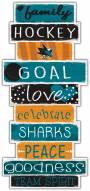 San Jose Sharks Celebrations Stack Sign