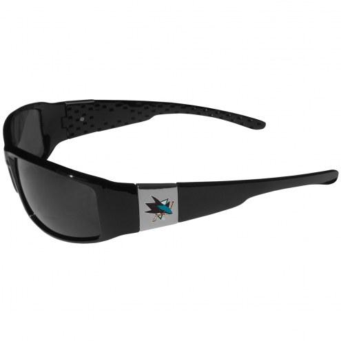San Jose Sharks Chrome Wrap Sunglasses