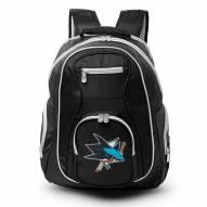 NHL San Jose Sharks Colored Trim Premium Laptop Backpack