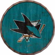 """San Jose Sharks Cracked Color 16"""" Barrel Top"""