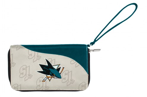 San Jose Sharks Curve Zip Wallet