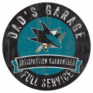 San Jose Sharks Dad's Garage Sign