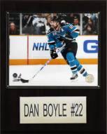 "San Jose Sharks Dan Boyle 12"" x 15"" Player Plaque"