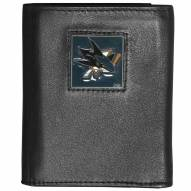 San Jose Sharks Deluxe Leather Tri-fold Wallet