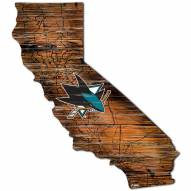 San Jose Sharks Distressed State with Logo Sign