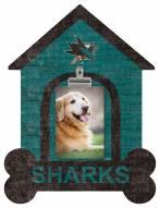 San Jose Sharks Dog Bone House Clip Frame