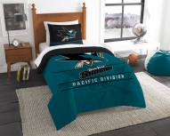 San Jose Sharks Draft Twin Comforter Set