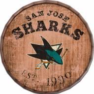 """San Jose Sharks Established Date 16"""" Barrel Top"""