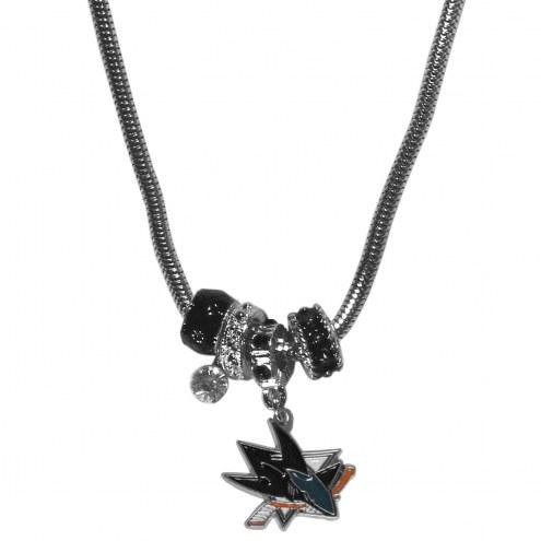 San Jose Sharks Euro Bead Necklace