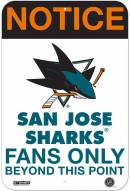 San Jose Sharks Fans Only 8 x 12 Aluminum Sign