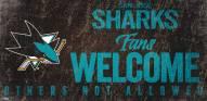San Jose Sharks Fans Welcome Sign