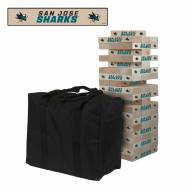 San Jose Sharks Giant Wooden Tumble Tower Game