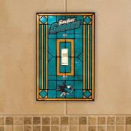 San Jose Sharks Glass Single Light Switch Plate Cover