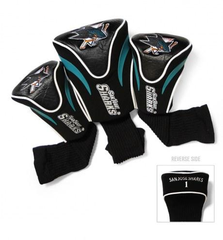 San Jose Sharks Golf Headcovers - 3 Pack