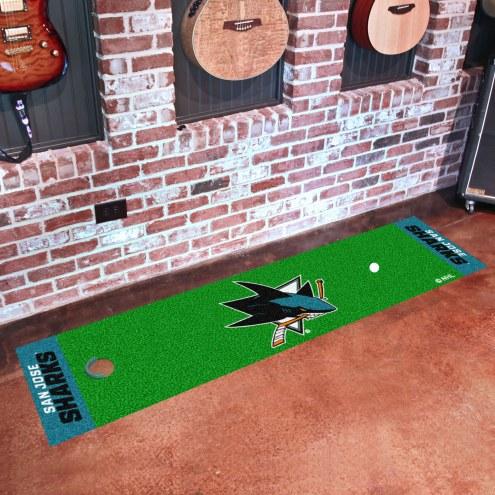 San Jose Sharks Golf Putting Green Mat