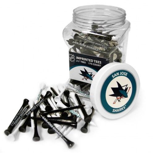 San Jose Sharks 175 Golf Tee Jar