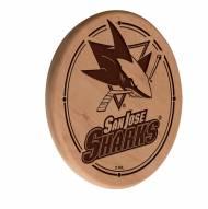 San Jose Sharks Laser Engraved Wood Sign