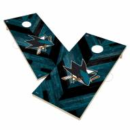 San Jose Sharks Herringbone Cornhole Game Set