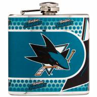 San Jose Sharks Hi-Def Stainless Steel Flask