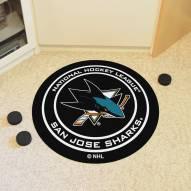 San Jose Sharks Hockey Puck Mat