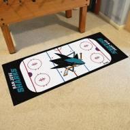 San Jose Sharks Hockey Rink Runner Mat