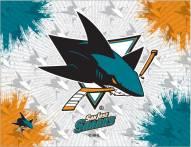 San Jose Sharks Logo Canvas Print