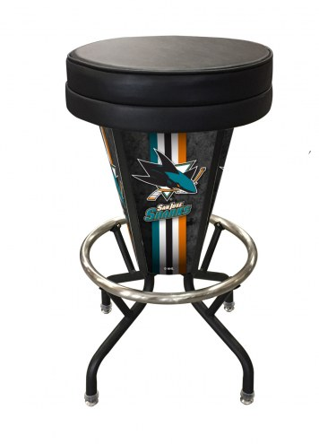 San Jose Sharks Indoor/Outdoor Lighted Bar Stool