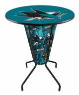 San Jose Sharks Indoor/Outdoor Lighted Pub Table